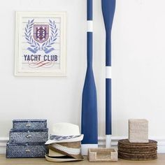 Give any home the nautical touch with these stunning oars or maybe just take your beach shack to that next level. To find this search 'blue oars' on dtll.com.au (link in profile) #nautical #blue #beach #oars