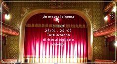 Dal 26 gennaio al 24 febbraio il Cinema Teatro Grandinetti di Lamezia Terme offre la visione di tutti i film in programmazione anche di domenica a soli 5 Euro. E' una promozione per far riprendere l'abitudine di vivere il centro città ed il cinema nei centri storici.