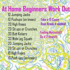 easy workouts for beginners - Google Search