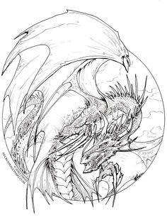 Circle Dragon - lineart by drakhenliche on DeviantArt