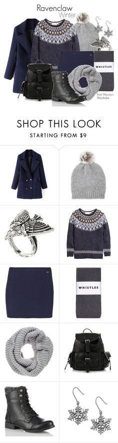 Ravenclaw: Winter by evalupin on Polyvore featuring H&M, Dsquared2, Whistles, ASOS, Fremada, Belmondo, Forever 21, Winter, harrypotter and hogwarts
