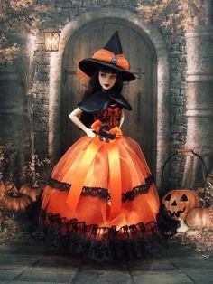 """Robe """" Halloween N°3 """" vêtement pour poupée Barbie f3788"""