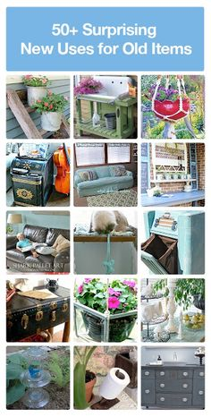 50+ DIY Surprising New Uses For Old Items..