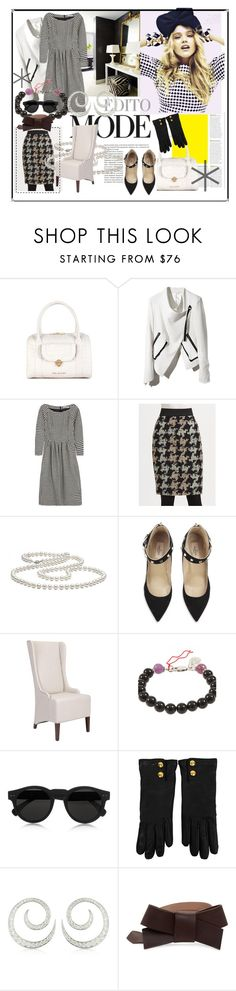 """Edito Mode"" by agathap ❤ liked on Polyvore featuring Ted Baker, Prada, Jil Sander, Akris Punto, Valentino, Home Decorators Collection, Aaron Jah Stone, Illesteva, Gucci and Colucci Diamonds"