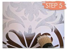how to stencil wood furniture with chalk paint decorative paint, painted furniture, Painting a vinyl masking stencil from our Modello Designs collection is as easy as stenciling a mylar stencil pattern