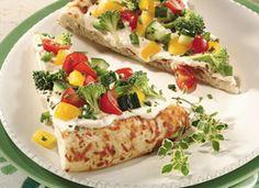 No cook veggie pizza