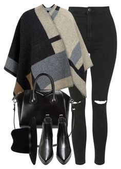 """Untitled #3797"" by london-wanderlust ❤ liked on Polyvore featuring Topshop, Burberry, Givenchy and rag & bone"