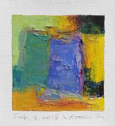 "Feb. 3, 2018 9 cm x 9 cm (app. 4"" x 4"") oil on canvas  © 2018 Hiroshi Matsumoto www.hiroshimatsumoto.com"
