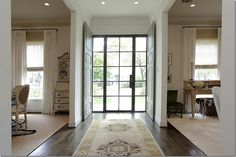 Love me some new mixed with old; door, wide planks