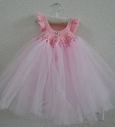 Princess Dress Tulle skirted crochet dress - free pattern at Ravelry
