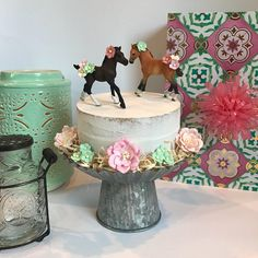 Items similar to 50 & Fabulous Cake Topper, Sparkly Black Cake Topper, Birthday Party Decor on Etsy Horse Birthday Parties, Cowgirl Birthday, Cowgirl Party, Little Girl Birthday, Birthday Cake Girls, Vintage Birthday, Turtle Birthday, Turtle Party, Carnival Birthday