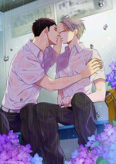 Haikyuu Manga, Haikyuu Karasuno, Haikyuu Funny, Haikyuu Fanart, Haikyuu Ships, Daichi, Anime Couples Drawings, Cute Anime Couples, Kagehina Cute