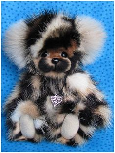 Bundarra a recycled vintage mink fur teddy by Blue Valley Bears.