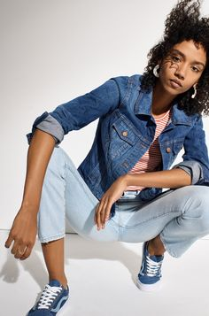 e2348d95f22 madewell jean jacket worn with the perfect summer jean