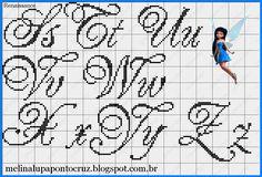 Studio Spot & Patch: Monograms and Alphabets in Cross Stitch Cursive Alphabet, Alphabet Writing, Alphabet And Numbers, Counted Cross Stitch Patterns, Cross Stitch Designs, Cross Stitch Embroidery, Diy Broderie, Cross Stitch Letters, Hand Embroidery Patterns