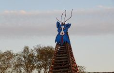 A themed Blue Dog Bonfire commemorating artist George Rodrigue at the Bonfires on the Levee.  Dont miss this year's party! #OnlyLouisiana