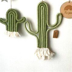 Cactus Wall Hanging Macrame Crochet DIY Playroom Kindergarten Decoration - Diy and crafts interests Playroom Organization, Playroom Decor, Nursery Decor, Playroom Ideas, Modern Playroom, Decoration Cactus, Crochet Decoration, Wall Decorations, Crochet Diy