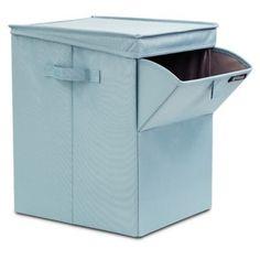 Brabantia Stackable Laundry Box in Pastel Mint Laundry Box, Laundry Room Organization, Small Laundry, Laundry Hamper, Laundry Organizer, Wall Storage, Closet Storage, Storage Spaces, Storage Ideas