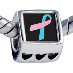 Pugster Silver Plated Photo Bead Pink Blue Ribbon Awareness Beads Fits Pandora Bracelet Pugster. $12.49. Unthreaded European story bracelet design. Hole size is approximately 4.8 to 5mm. It's the photo on the heart charm. Fit Pandora, Biagi, and Chamilia Charm Bead Bracelets. Bracelet sold separately