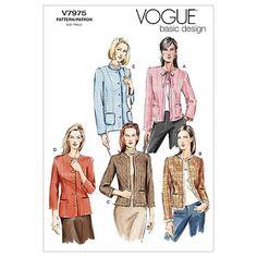 Misses Petite Jacket Vogue Pattern 7975.
