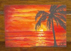 Gallery For > Acrylic Paintings Of Palm Trees