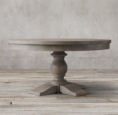 RH's 17th C. Priory Round Dining Table:Popularized during the Middle Ages, the trestle is one of the oldest known dining table designs. Our version is scaled down for smaller spaces with a long top and substantial baluster legs that recall the tables found in 17th-century monasteries.