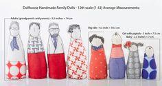 Diese Multi-generational erweiterte Familie für DollHouse - gehört Ooak Miniaturen, Kunst-Puppe - Großeltern, Eltern und Kinder moderne Familie