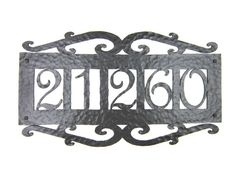 APH15 Spanish Mediterranean wrought iron 5 number address plaque – Bushere & Son Iron Studio Inc.