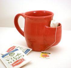 A tea bag picket mug