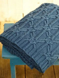 """Textured Knots"" throw blanket ~ knitting pattern by Norah Gaughan Afghan Patterns, Knitting Patterns, Crochet Patterns, Knitted Afghans, Knitted Blankets, Knitting Stitches, Baby Knitting, Knot Blanket, How To Purl Knit"