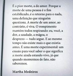 A morte do amor.
