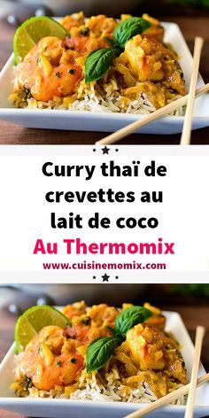 crevettes thermomix cuisiner famille recette propose comment facile maison toute faire voila curry thaï vous Curry thaï de crevettes au lait de coco au Thermomix Curry thaï de crevettes au lait de coco au You can find Good food and more on our website Vegetarian Italian Recipes, Clean Eating Vegetarian, Vegetarian Recipes Videos, Vegetarian Meals For Kids, Clean Eating Recipes, Mexican Food Recipes, Vegetarian Protein, Indian Recipes, Healthy Breakfast Recipes