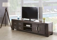 This entertainment unit is ideal for storing all your entertainment goods in one central location. Shop now, only at Fantastic Furniture! Value Furniture, Bed Furniture, Door Storage, Cupboard Storage, Furniture Assembly, Australia Living, House Goals, Kingston, New Homes