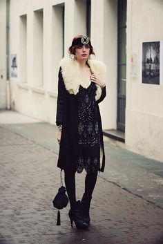 did I mention her style is also amazing? I WANT THAT PELT    #ilovelouise