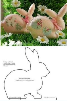 17 Rabbit Molds for Easter Crafts - See it Now! - 17 Rabbit Molds for Easter Crafts - See it Now! Felt Crafts, Fabric Crafts, Diy Crafts, Easter Projects, Easter Crafts, Spring Crafts, Holiday Crafts, Diy Ostern, Sewing Toys