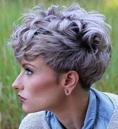 Ideas Short Hair Wavy Pixie Popular Haircuts For 2019 Curly Pixie Haircuts, Bob Haircut Curly, Curly Hair Cuts, Wavy Hair, Curly Hair Styles, Hairstyle Short, Short Haircuts, Hairstyle Ideas, Wavy Pixie