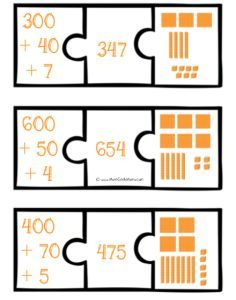 FREE Expanded Number Puzzles. Helpful visual for seeing expanded notation.