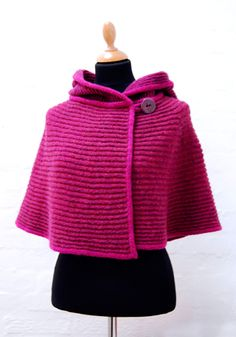 I think a shawl like this would be awesome. I think I am not a very good knitter, so I should try to crochet it. I think gray would be lovely.