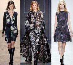 Fashion Week Breaking Trends Fall 2014: Florals on Black - Accessories Magazine - Brandon Sun, Vera Wang, Rebecca Taylor