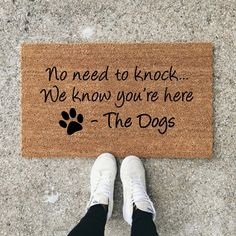 Dog Mom Discover No Need To Knock We Know Youre Here Dog Doormat Dog Lover Funny Doormat Wedding Gift Closing Gift Housewarming Gift Welcome Mat Diy Pet, Funny Doormats, Dog Rooms, My New Room, Dog Life, My Dream Home, Doge, Fur Babies, Chihuahua