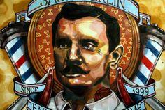 mural de salón berlin (Palermo) bs. as....realizado por elmarian & pablokno