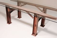 High Line Table  Industrial communal table  by industrialrevivalco