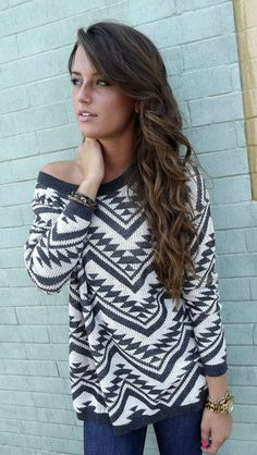 love this aztec print sweater