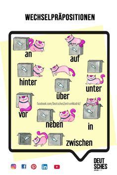 Deutsch Wortschatz Grammatik German Alemán DAF Vocabulario gramática preposiciones Norway Language, Germany Language, German Grammar, German Words, Teaching French, Teaching Spanish, Spanish Activities, Emotions Preschool, German Resources