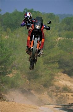KTM in flight. Proper adventure bike. Wish I could ride mine like this.  thefunbiker.com