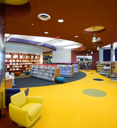 like the play of colors on carpet and the stools available for patrons