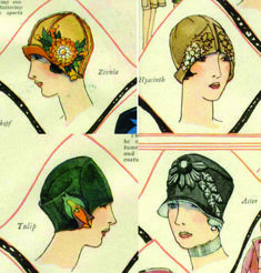 The Vintage Pattern Files: 1920's Sewing - Cloche Hats More