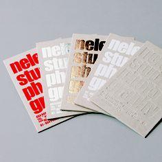 Letterpress variations, chunky type