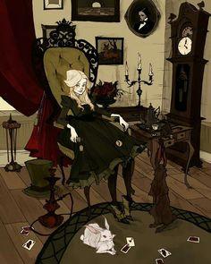 "Happy birthday to Lewis Carroll's  ""Alice's Adventures in Wonderland"" published #otd in 1865! #alice #wonderland #lewiscarroll #art #illustration #abigaillarson"