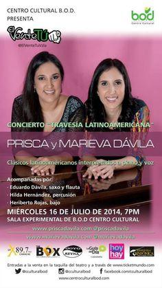 """Cresta Metálica Producciones » Concierto Prisca y Marieva Dávila """" Travesìa latinoamericana"""" este 16 de julio"""